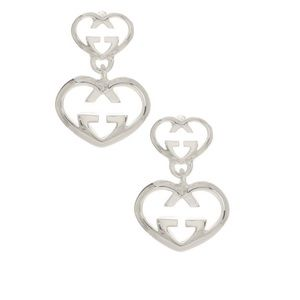 New Authentic Gucci Love Britt G Heart Earrings